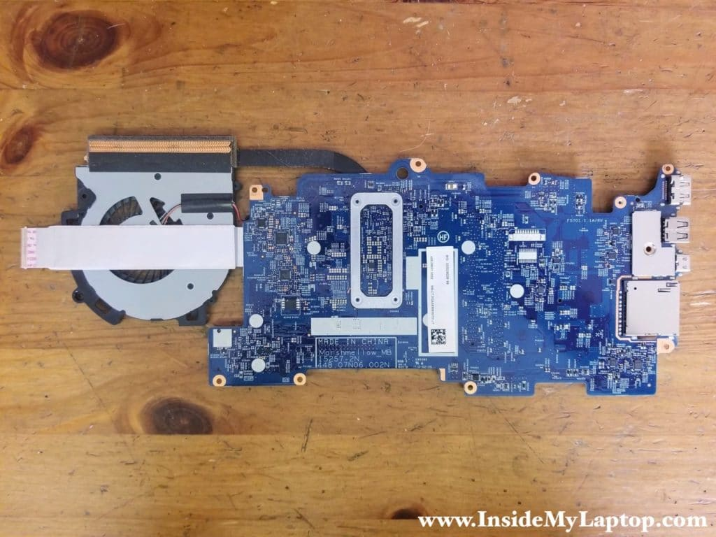 Other side of HP ENVY x360 Convertible PC motherboard