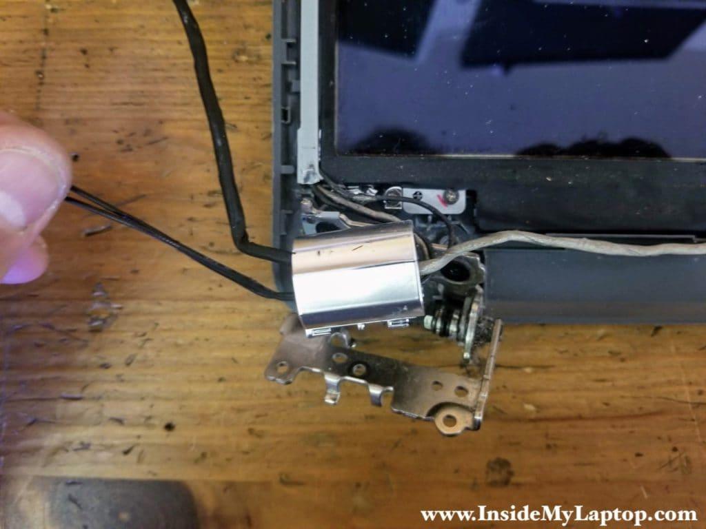 Left display hinge damaged