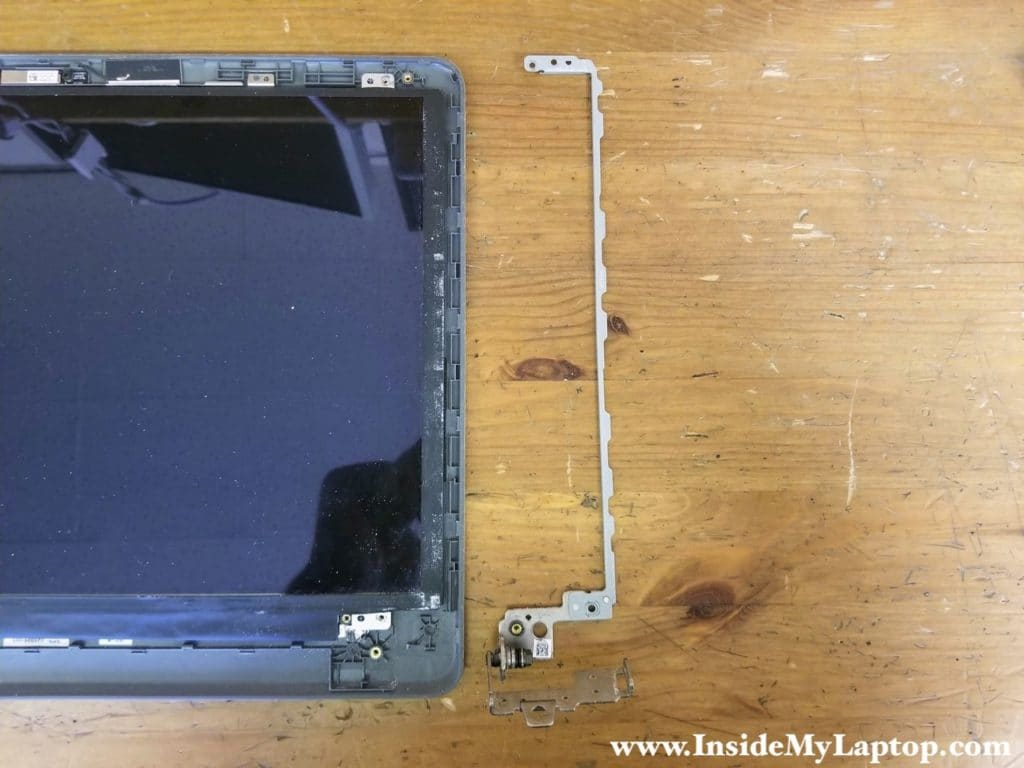 Remove hinges and LCD screen