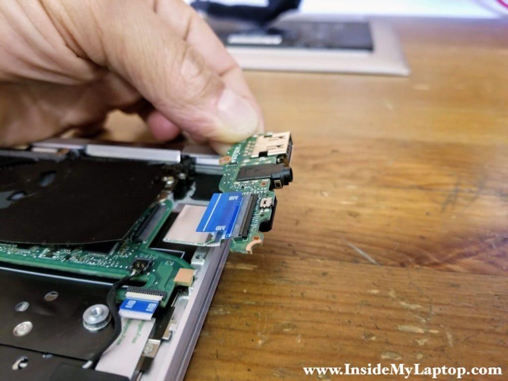 Remove the USB audio board.