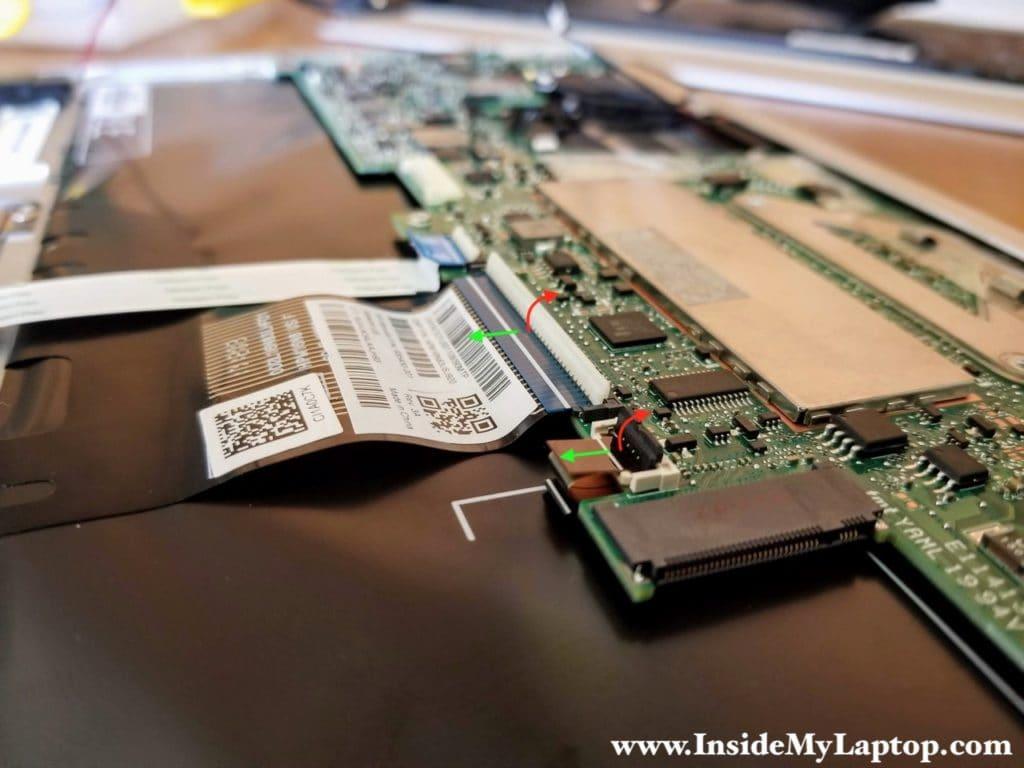 Unlock connectors for flat cables.