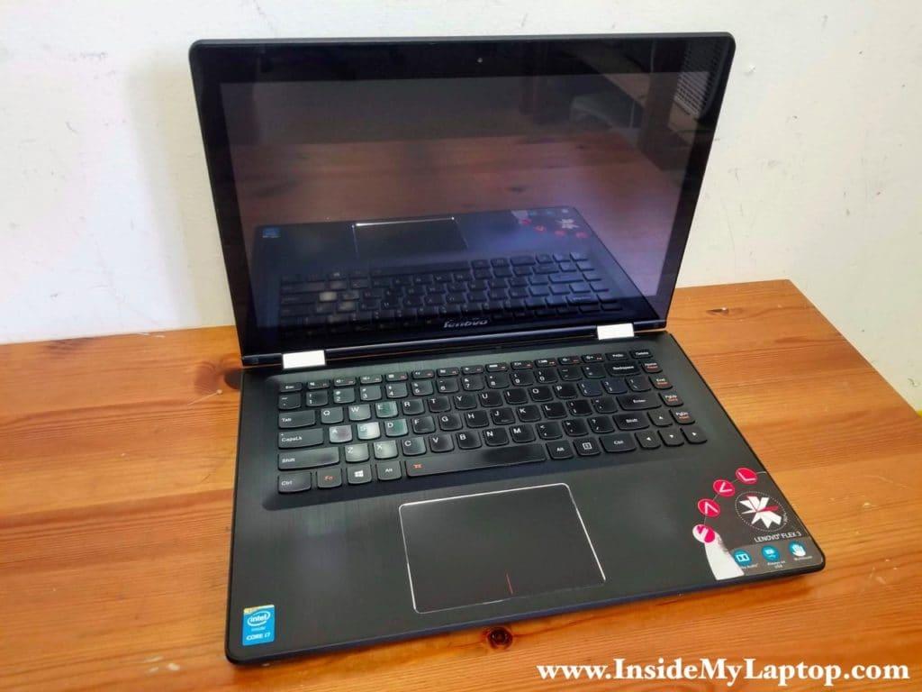 """Taking apart 14"""" Lenovo Flex 3-1470 model 80JK."""