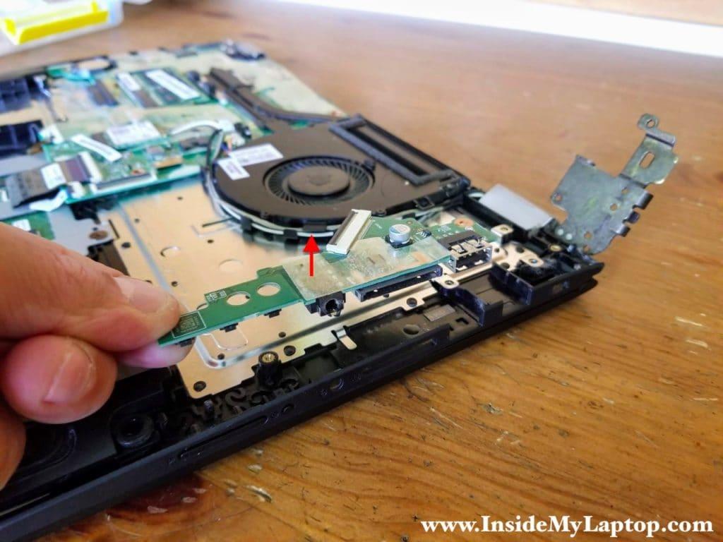 Remove the USB/Audio/Volume control board.