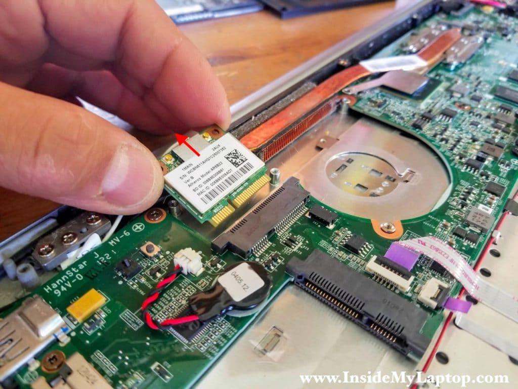 Remove wireless card