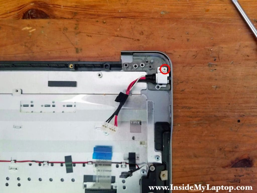 Remove DC power jack