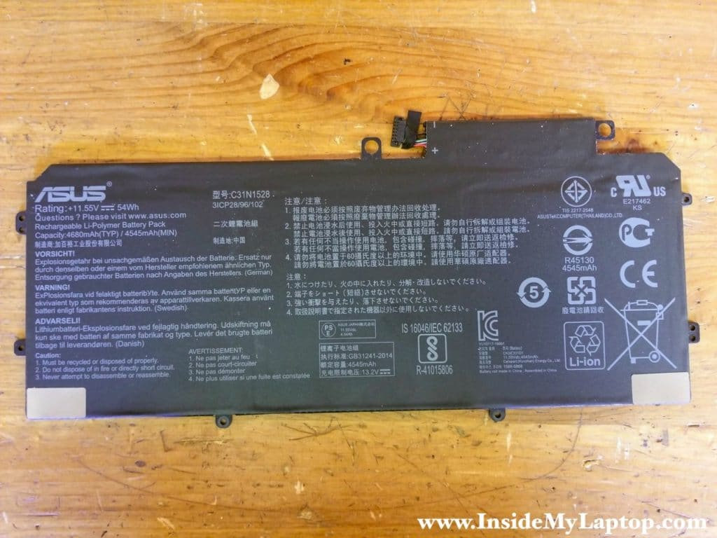 Asus ZenBook Flip UX360C battery model: C31N1528.