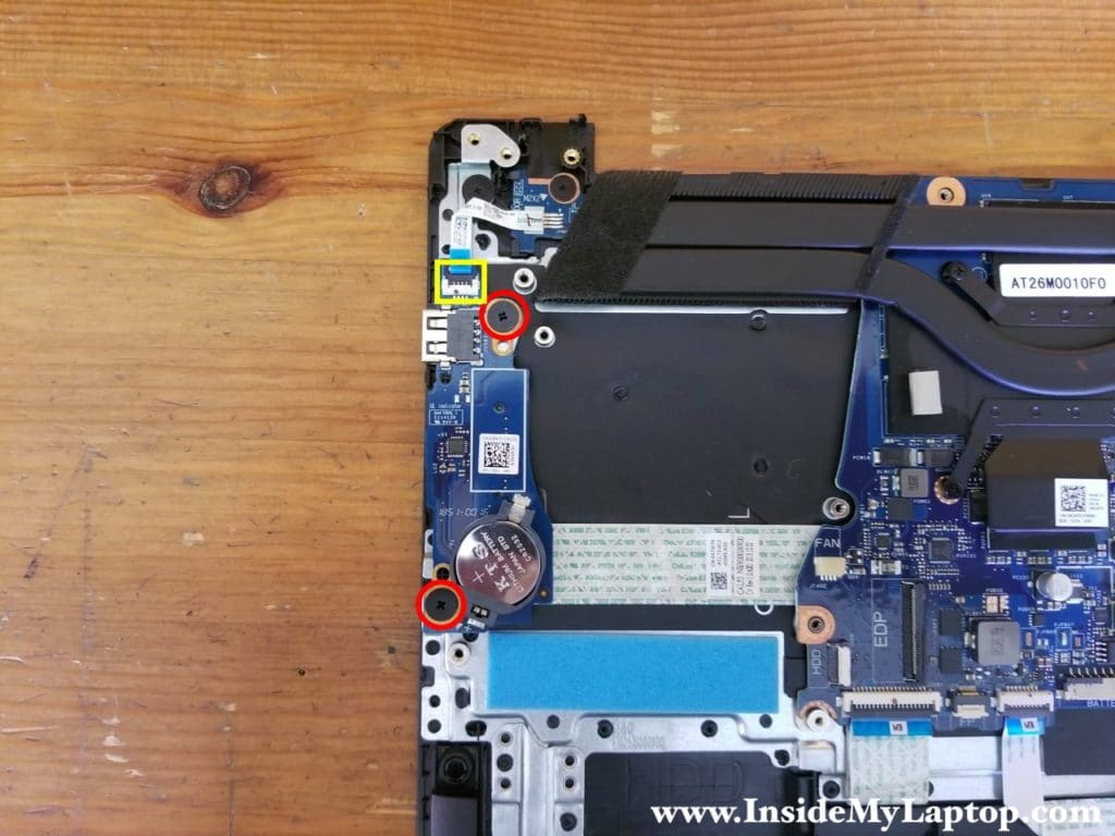 Remove two screws from the USB SD card reader board.