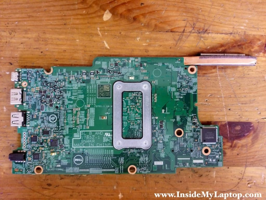 Here's a photo of the other side of the motherboard.