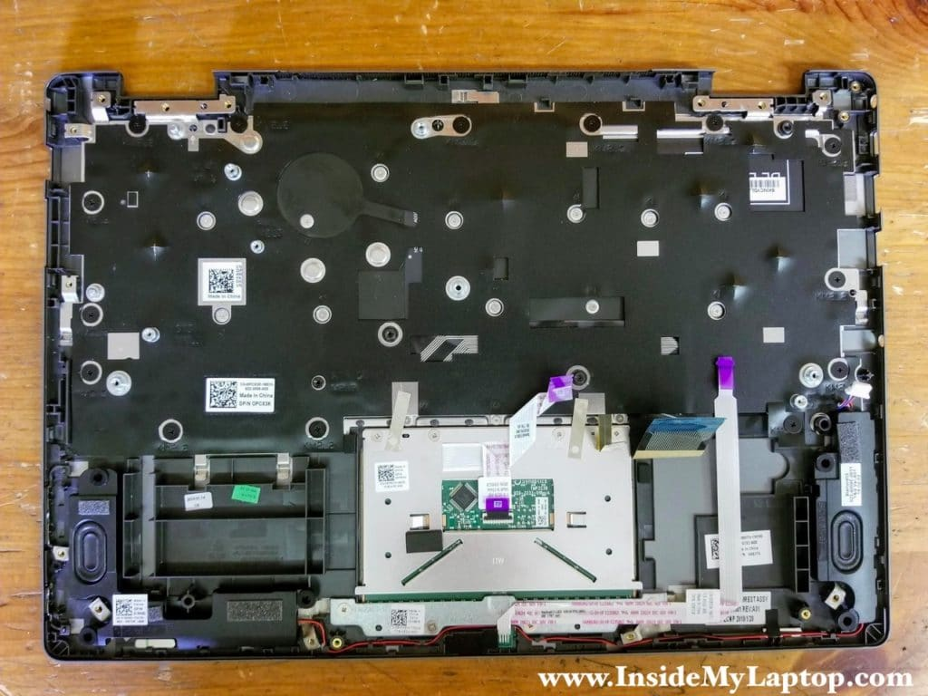 Here's laptop palmrest with the motherboard removed.