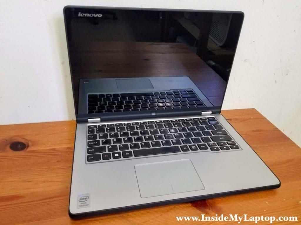 Taking apart Lenovo Yoga 2 11 model 20332.