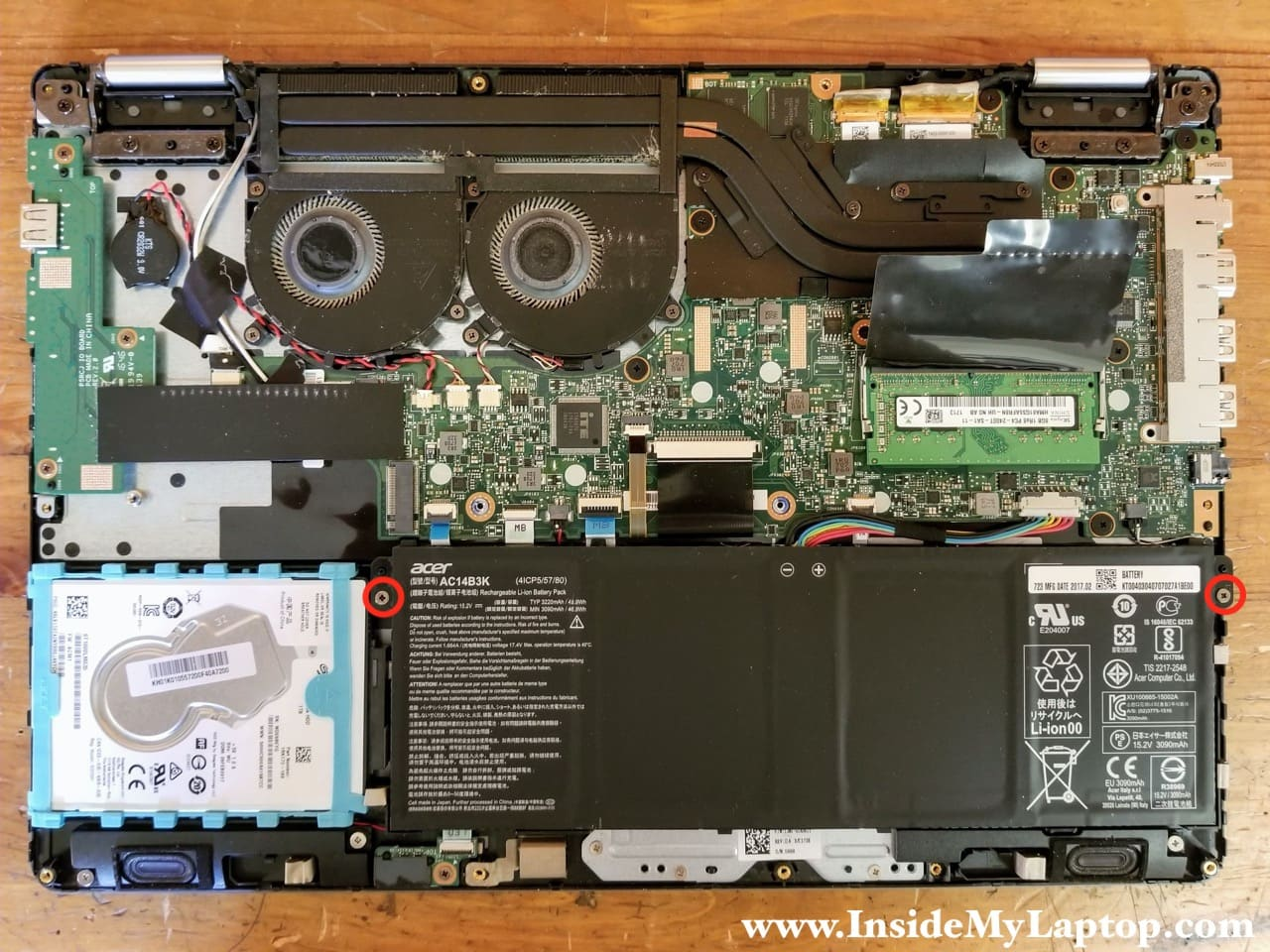 Acer Aspire R 15 R5 571tg 59va N16p2 Disassembly Inside My Laptop