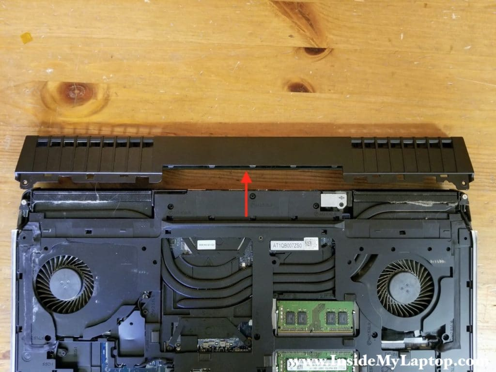 Remove the rear ports cover.