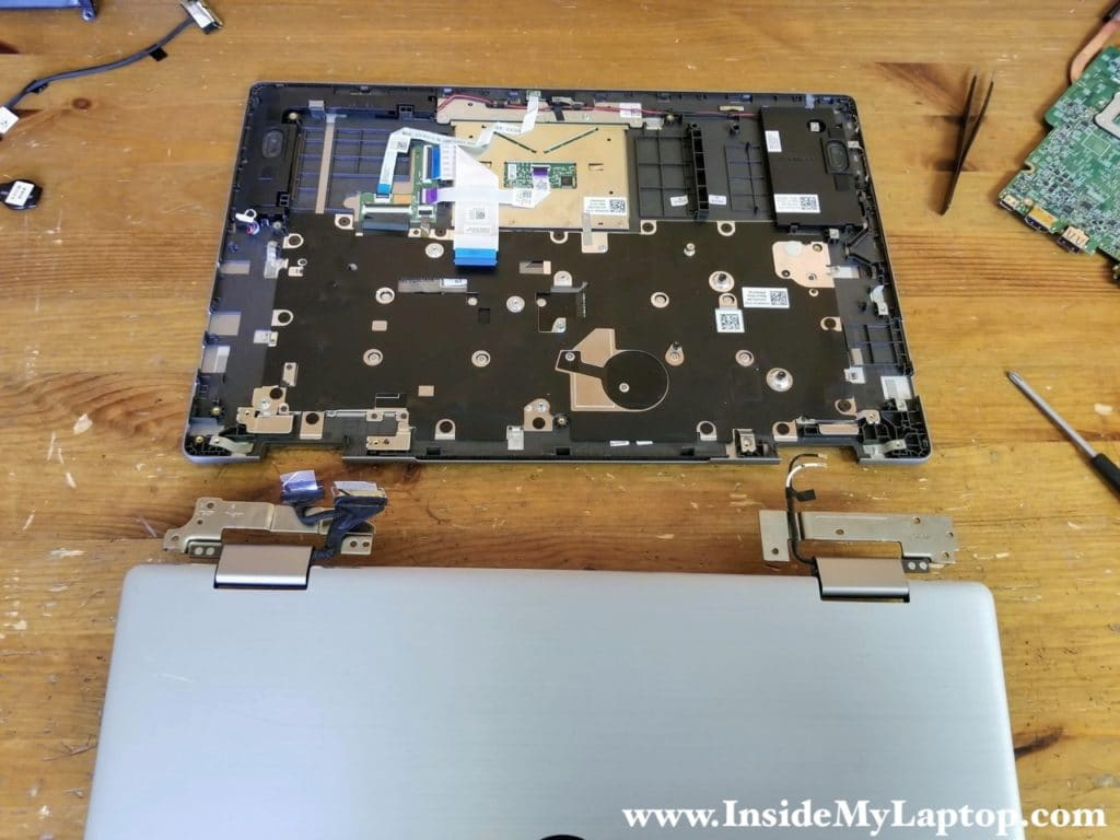 Lift up and remove the display panel.