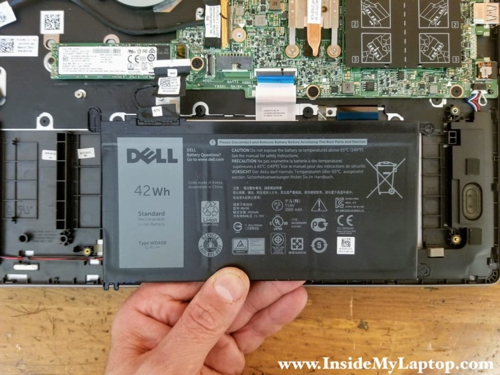 Dell Inspiron 15 7569 battery type: WDX0R.