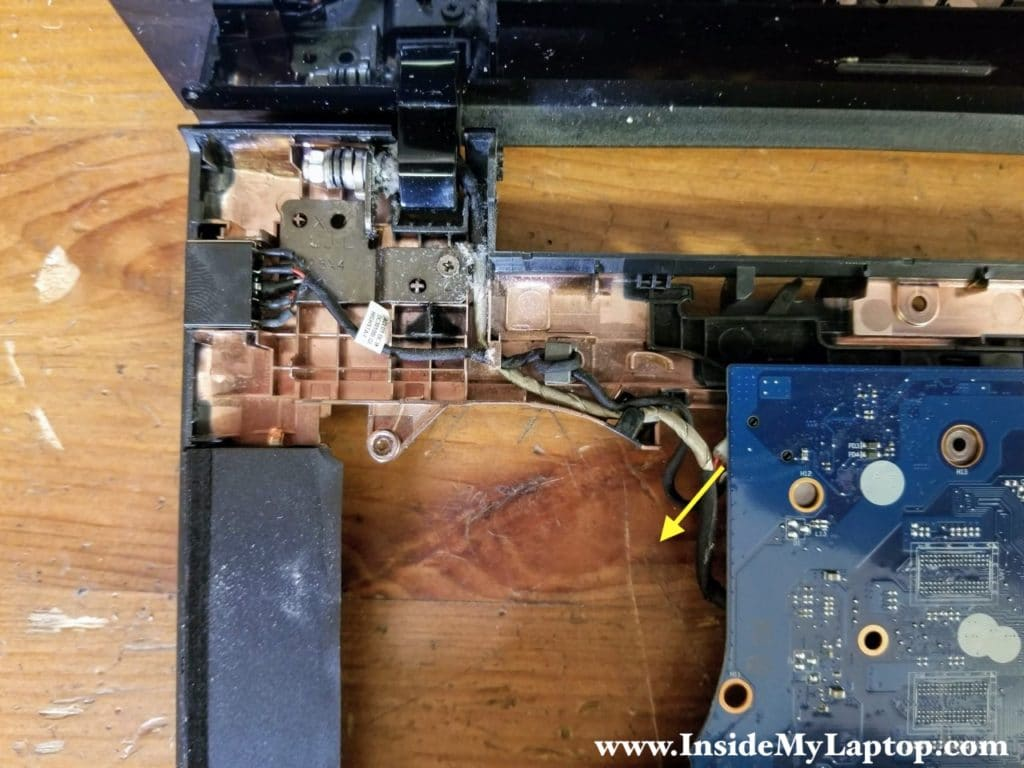Unplug the DC power jack cable from the motherboard.