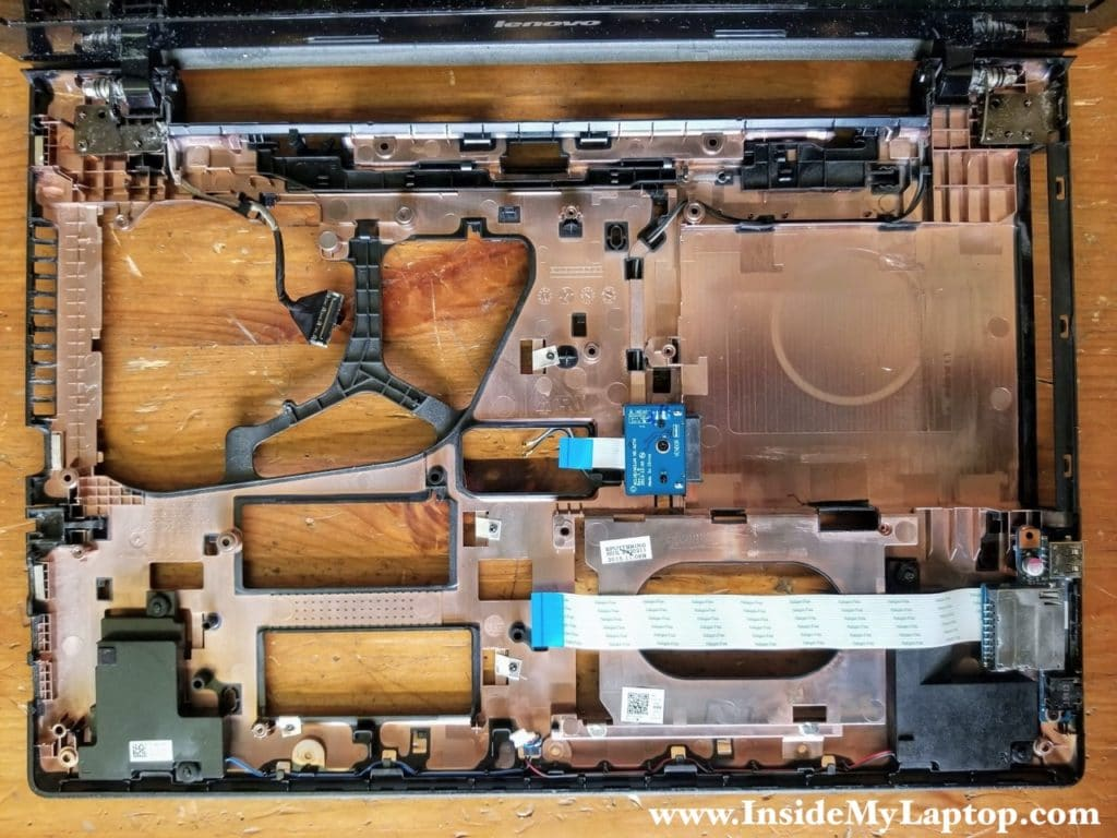 Here's a photo of the base assembly with the motherboard removed.