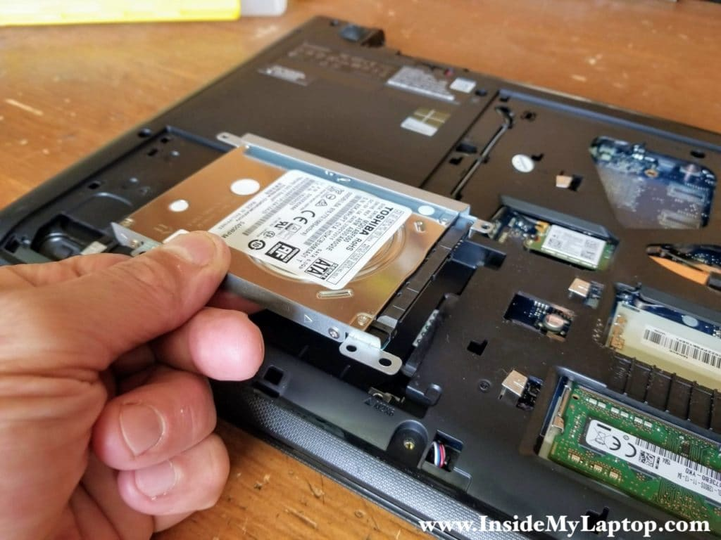 Lift up and remove the hard drive assembly.