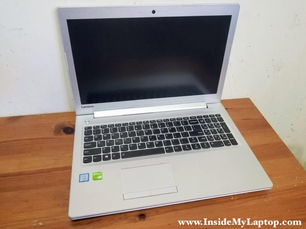 Lenovo Ideapad 510-15IKB 510-15ISK disassembly guide.