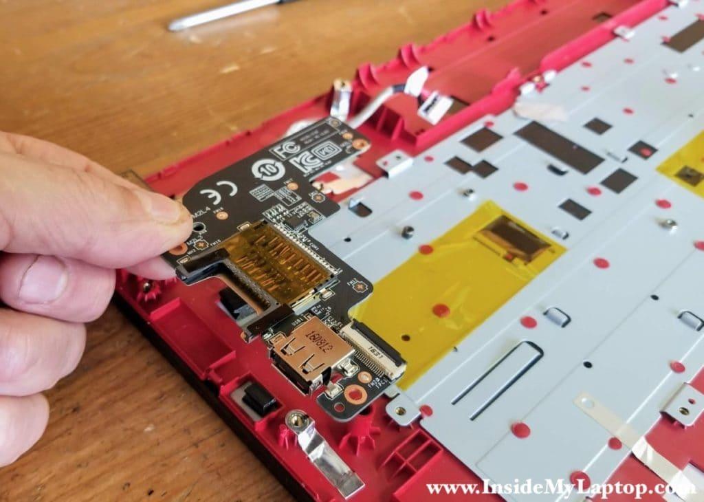 Remove the USB SD card reader board.