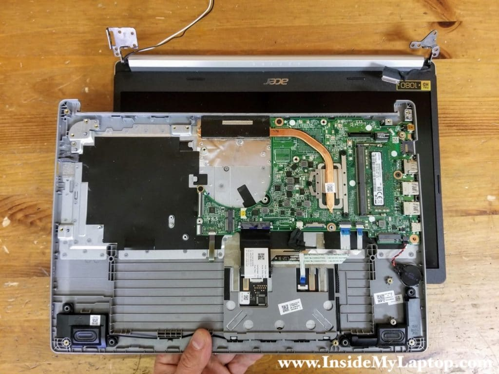 Remove the top case assembly completely.