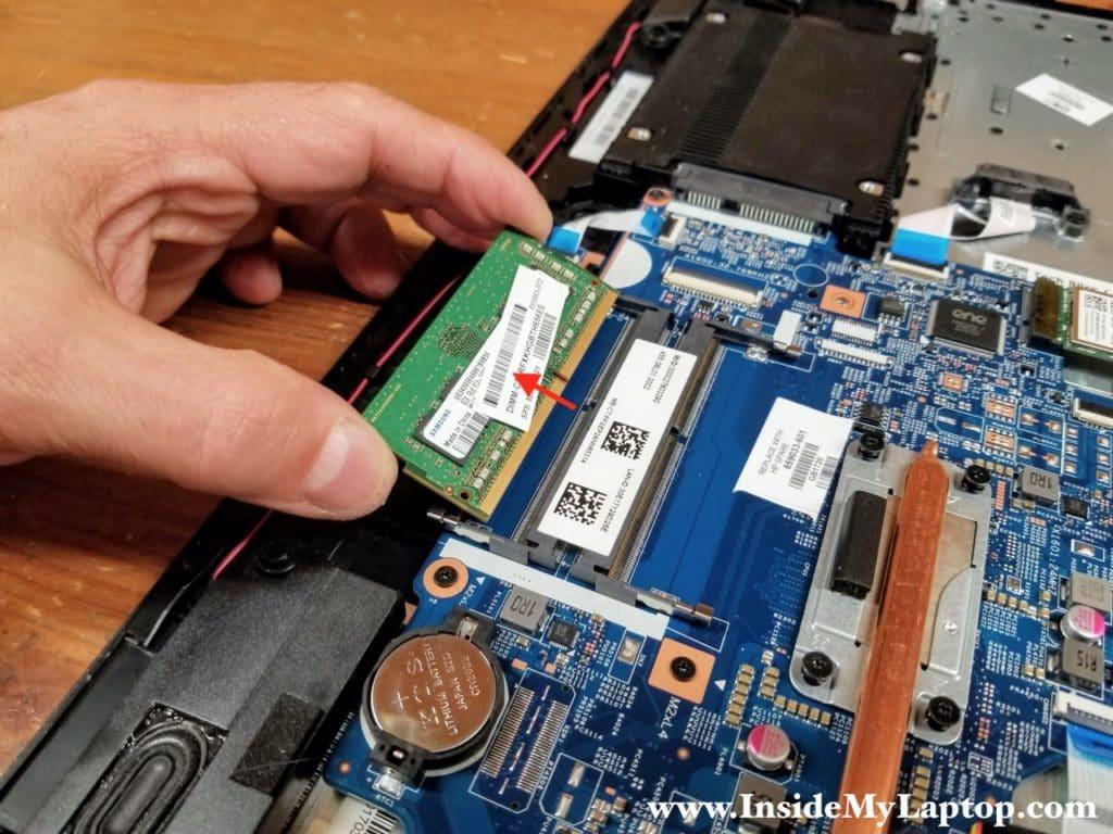 Remove the memory module.