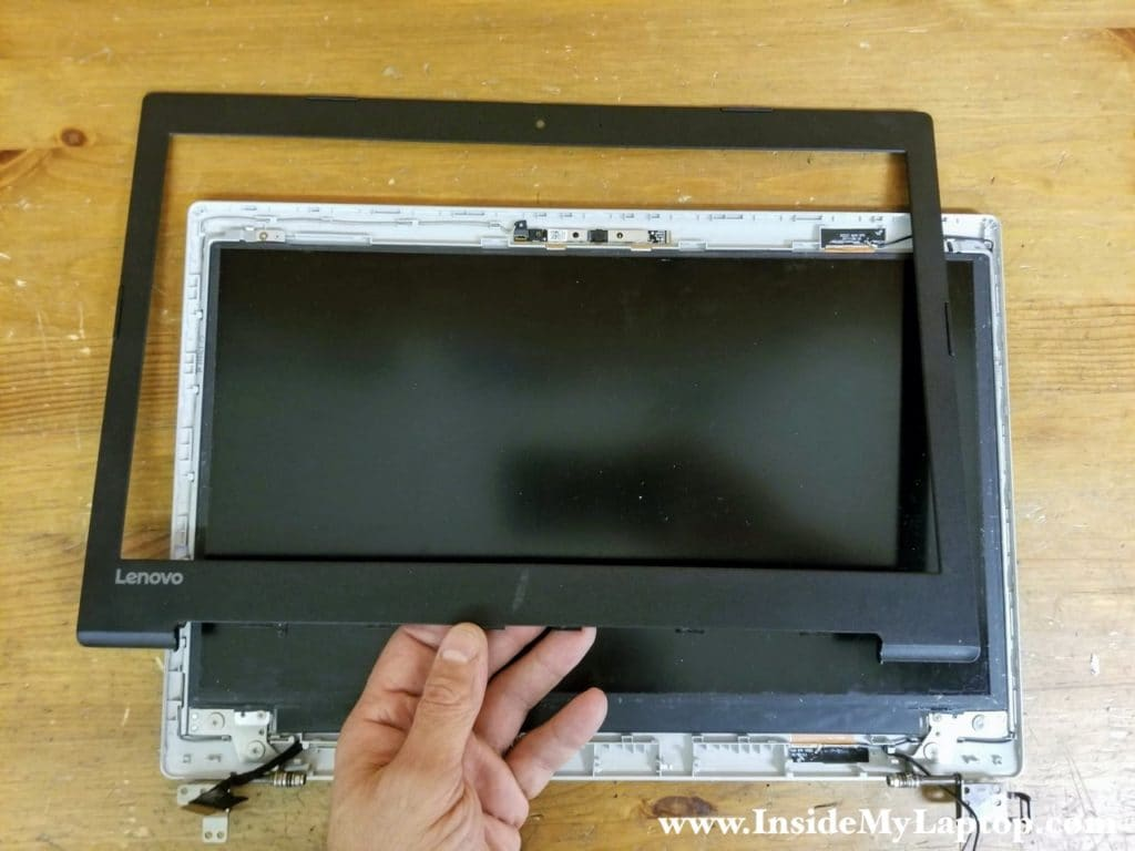 Remove the front bezel completely.