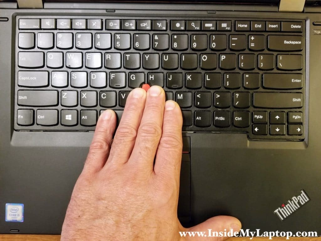 You know you did it properly when you see a gap between the lower side of the keyboard and the palmrest.