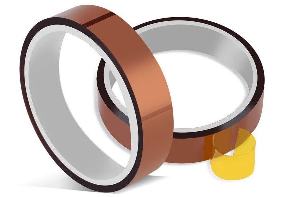 Heat resistant Kapton tape.