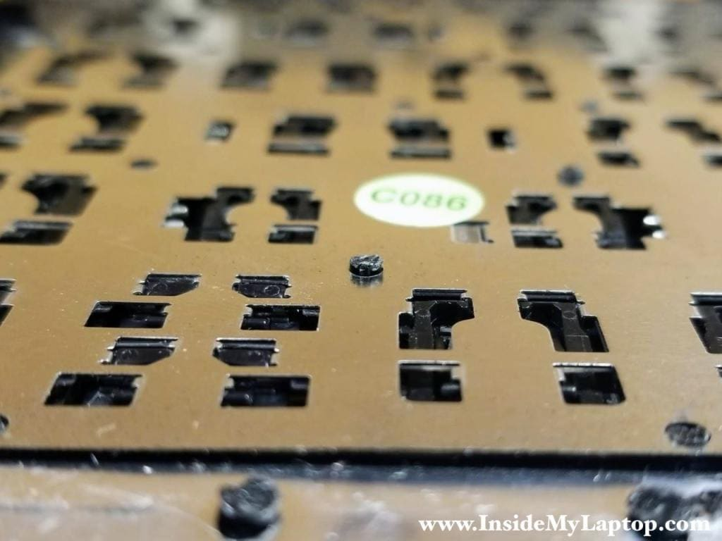All the remaining rivets has to seat properly so the new keyboard is not bulging.