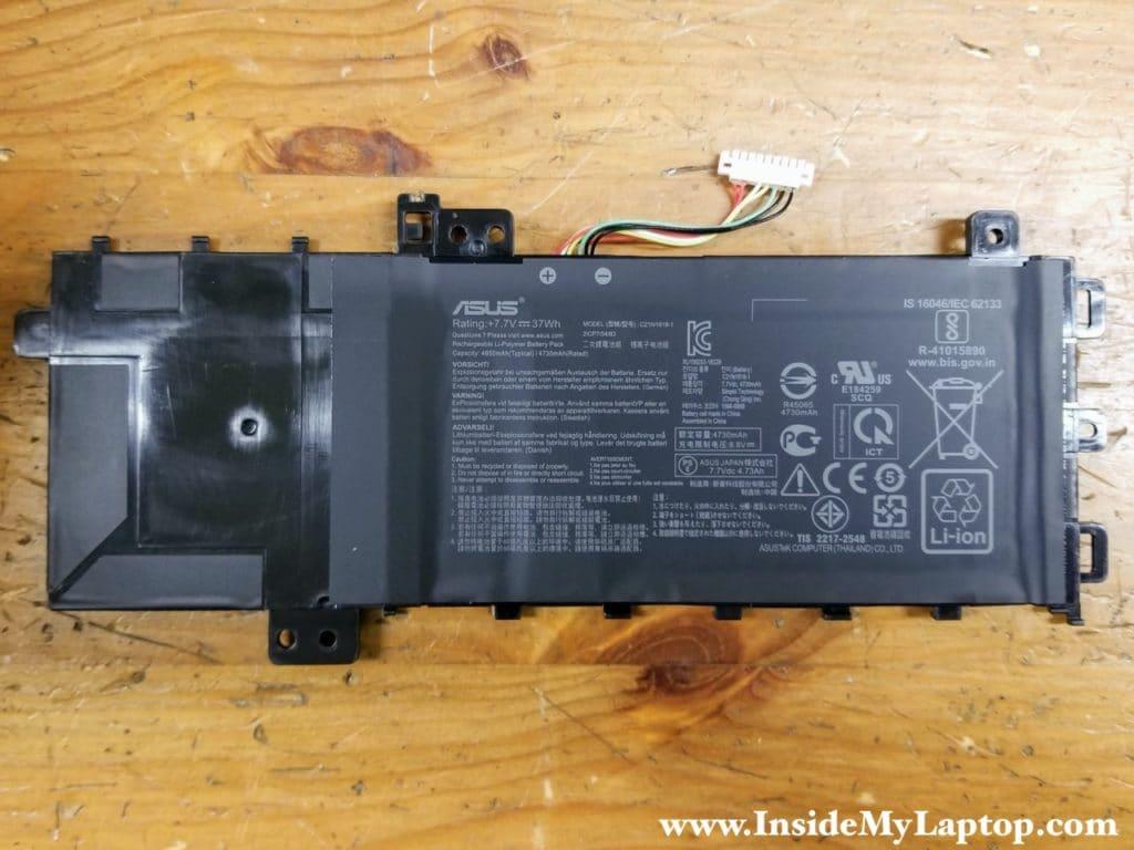 Asus VivoBook 15 F512 X512 battery model: C21N1818-1.