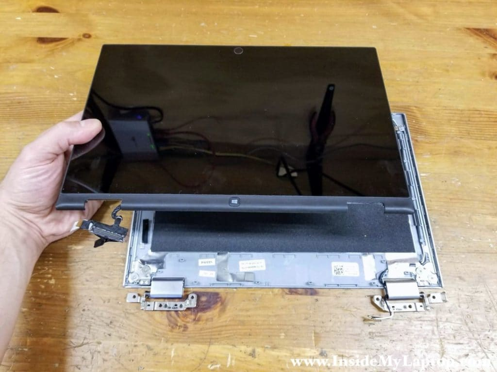 Remove the touchscreen assembly completely.