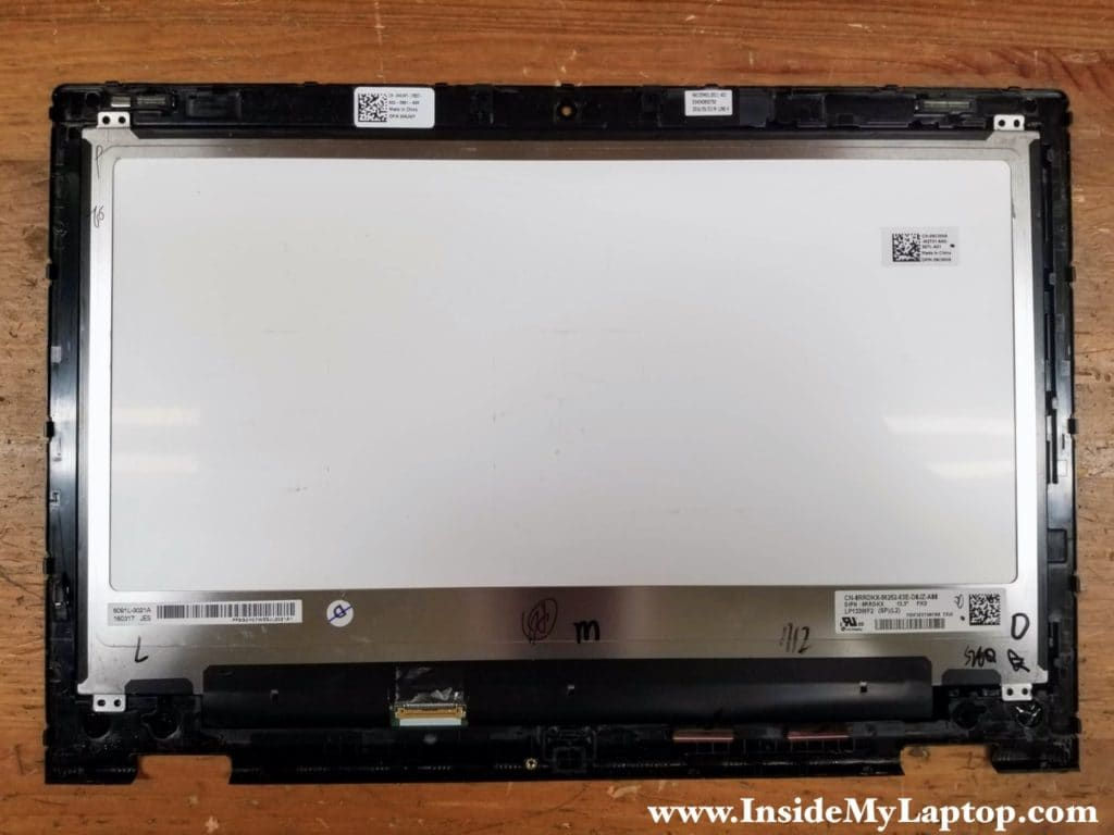 The LCD screen is permanently glued to the front digitizer glass and cannot be removed separately.