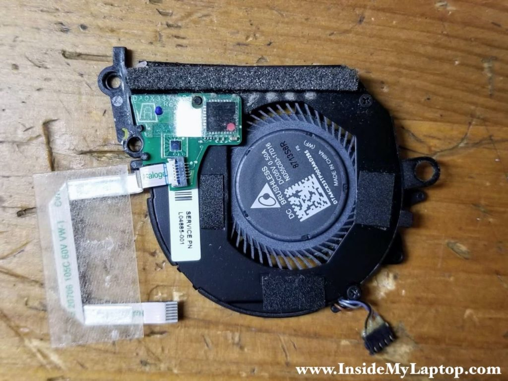HP Spectre x360 13t-ae000 right fan service part number: L04885-001.