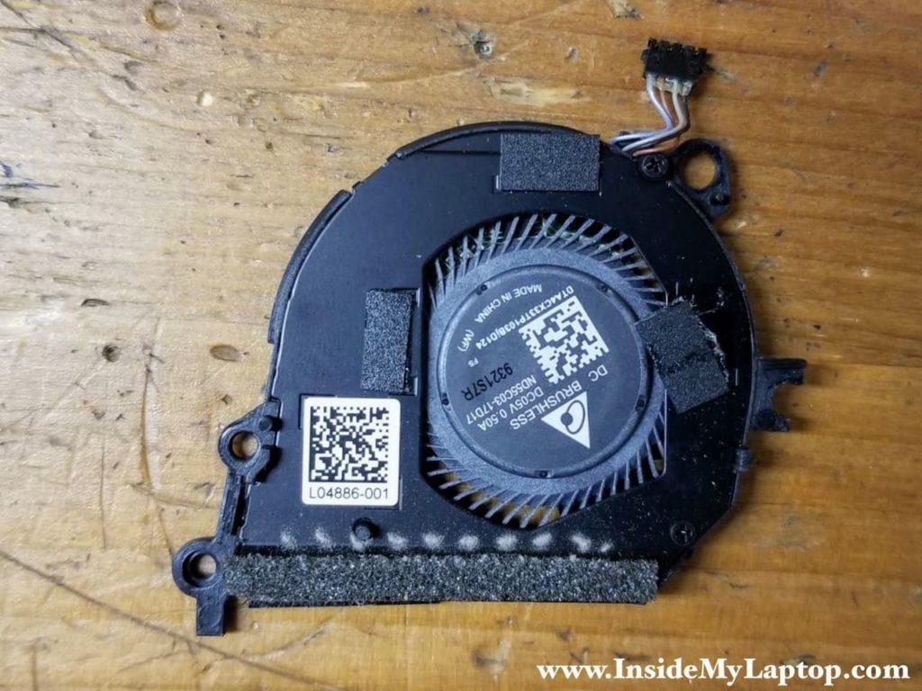 HP Spectre x360 13t-ae000 left fan service part number: L04886-001.