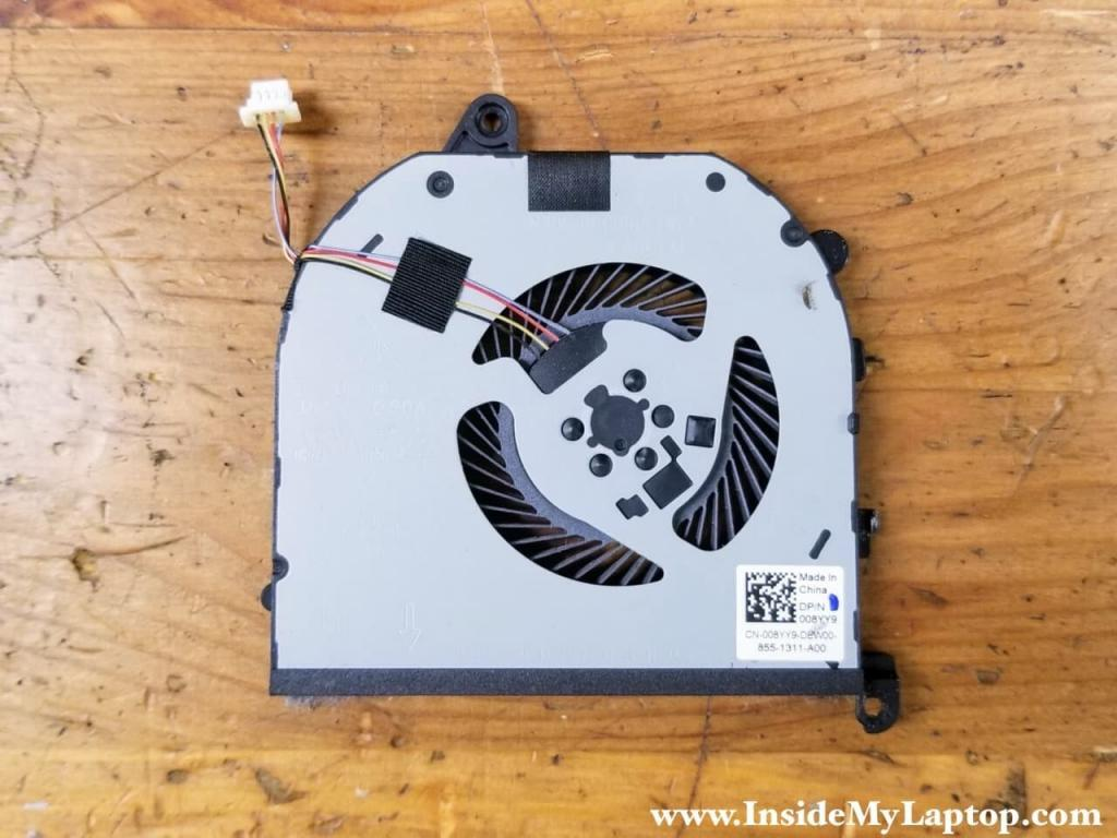 The left cooling fan part number: 008YY9.